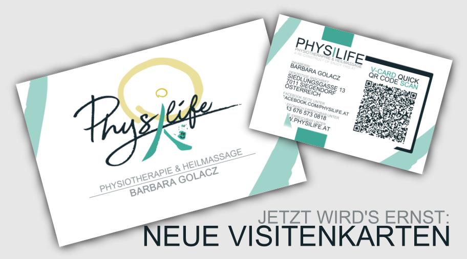 Neue Visitenkarten Physilife At